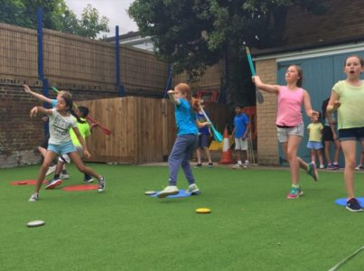 Macca's Sports Camp - Practising Javelin Throwing Skills
